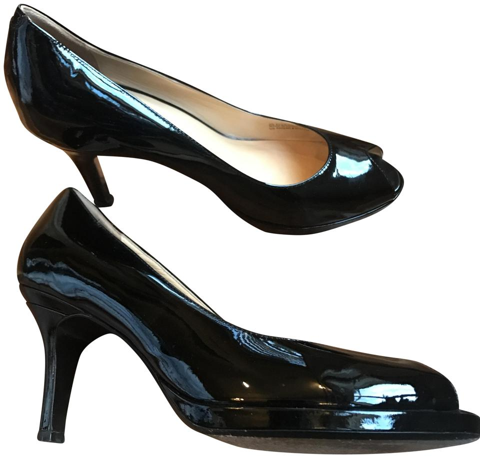 6ccb3d8532df Cole Haan Black Nike Air Patent Leather Platform Pumps Size US 9 ...