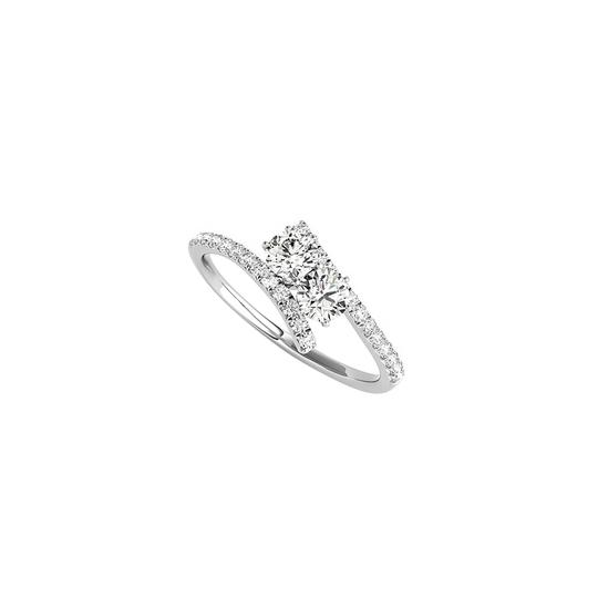 Preload https://img-static.tradesy.com/item/24188070/white-true-love-expression-with-cz-two-stone-925-silver-ring-0-0-540-540.jpg