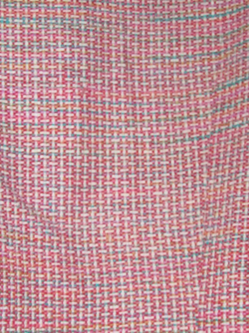 Dior Mint Vintage Mid Century Edgy Modern Look Silk/Wool Short Structured Cut pink, turquoise, red, and white, tweed Blazer Image 2