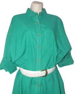 Oscar de la Renta Mint Vintage Day To Night Style Shirt Style Dress