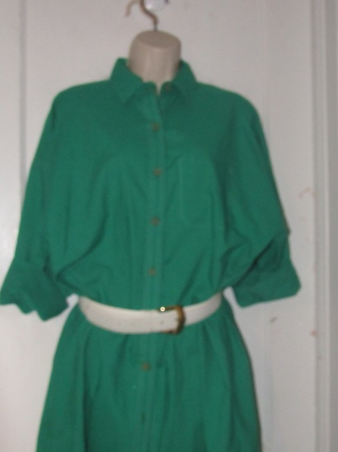 Oscar de la Renta Mint Vintage Day To Night Style Shirt Style Dress Image 1