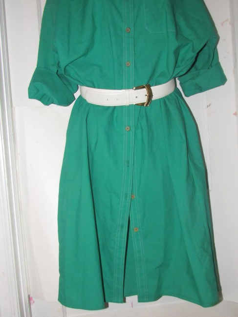 Oscar de la Renta Mint Vintage Day To Night Style Shirt Style Dress Image 2