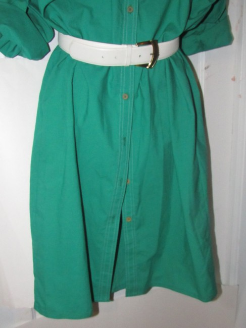 Oscar de la Renta Mint Vintage Day To Night Style Shirt Style Dress Image 3
