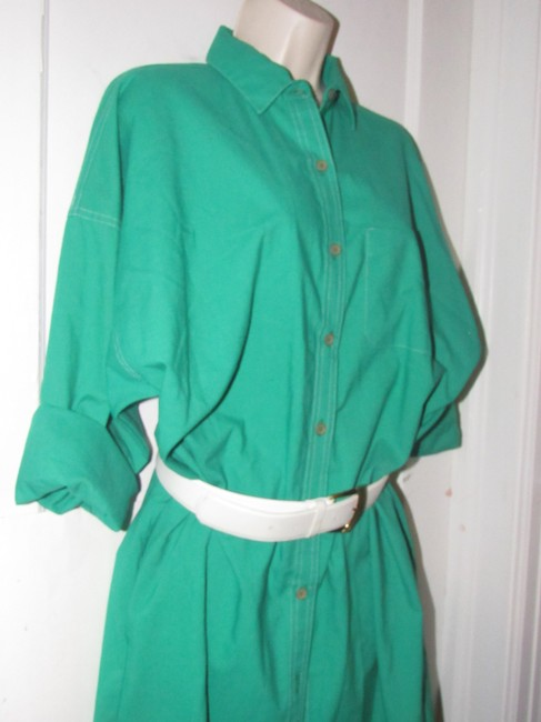 Oscar de la Renta Mint Vintage Day To Night Style Shirt Style Dress Image 4