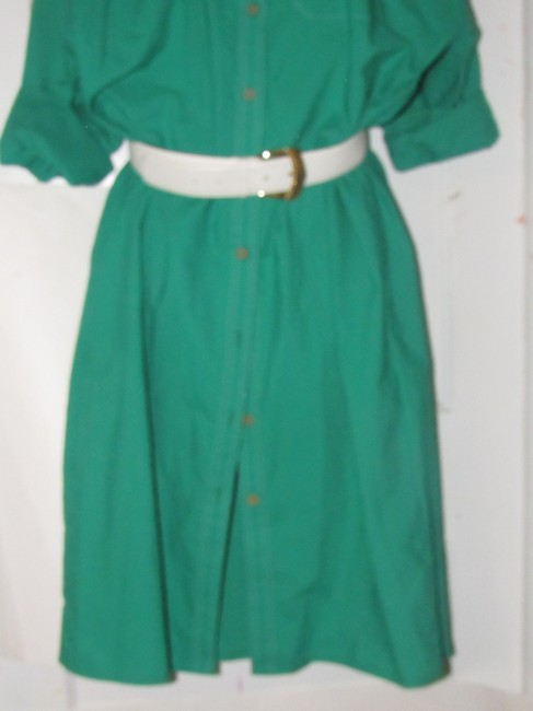 Oscar de la Renta Mint Vintage Day To Night Style Shirt Style Dress Image 6