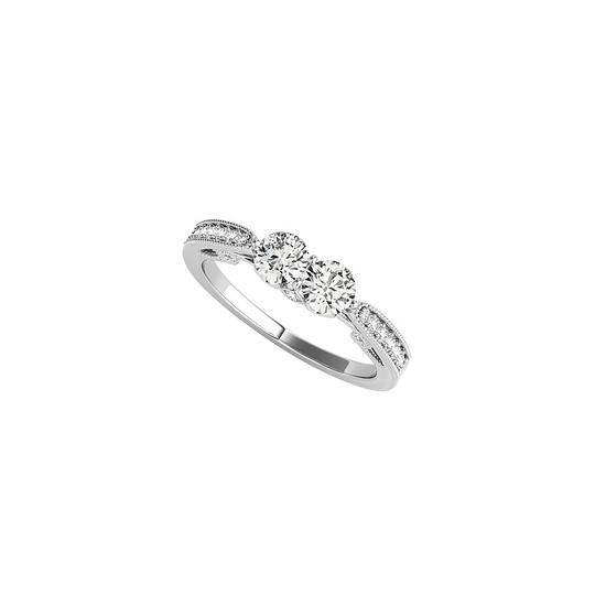 Preload https://img-static.tradesy.com/item/24188235/white-great-gifting-two-stone-cz-styled-14k-gold-ring-0-0-540-540.jpg