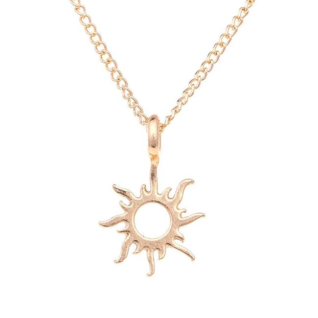 Fashion Jewelry For Everyone Gold Plated Korean Version Sun Clavicle Necklace Fashion Jewelry For Everyone Gold Plated Korean Version Sun Clavicle Necklace Image 1