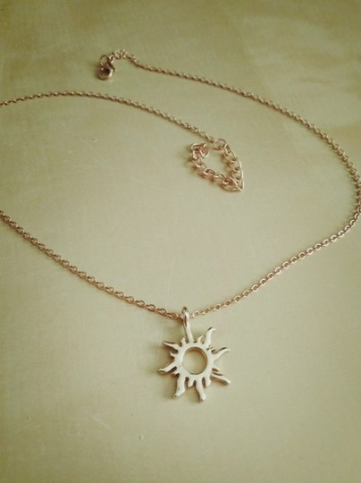 Fashion Jewelry For Everyone Gold Plated Korean Version Sun Clavicle Necklace Image 5