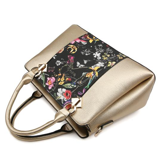 Dasein The Treasured Hippie Vintage Bags Designer Inspired Affordable Bags Large Handbags Satchel in Silver/Floral Image 5