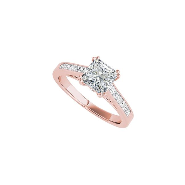 Unbranded White Charming Princess Cut Cz In 14k Rose Gold Vermeil Ring Unbranded White Charming Princess Cut Cz In 14k Rose Gold Vermeil Ring Image 1