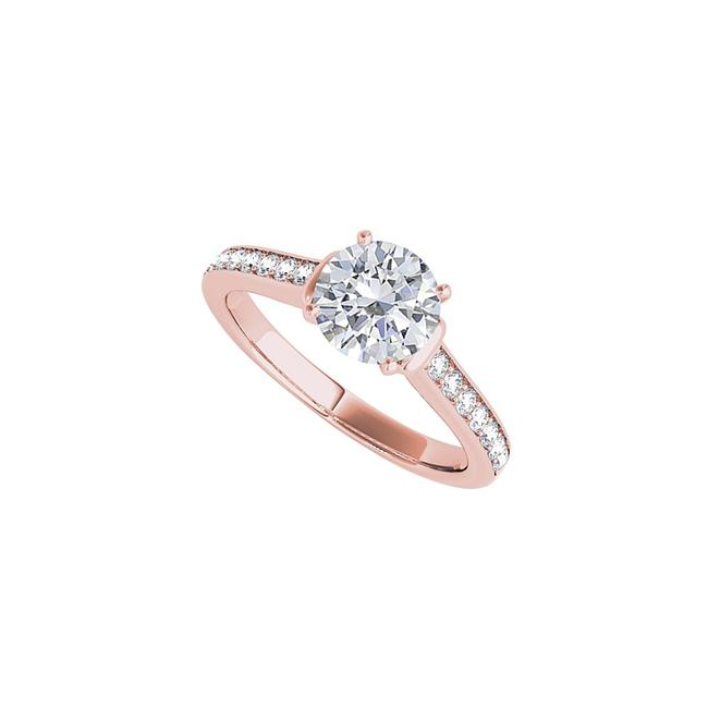 Unbranded White Round Cz In 14k Rose Gold Vermeil Over 925 Silver Ring Unbranded White Round Cz In 14k Rose Gold Vermeil Over 925 Silver Ring Image 1