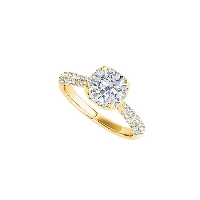 Unbranded White 18k Yellow Gold Vermeil Cubic Zirconia Engagement Ring Unbranded White 18k Yellow Gold Vermeil Cubic Zirconia Engagement Ring Image 1