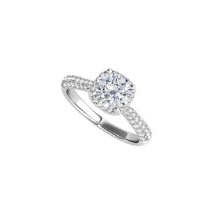 DesignByVeronica 925 Sterling Silver Brilliant Cut CZ Engagement Ring