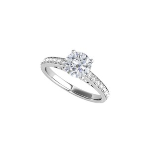 DesignByVeronica Cubic Zirconia Engagement Ring 925 Sterling Silver