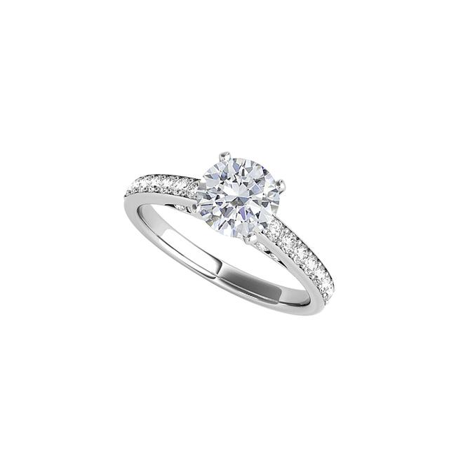 Unbranded White Cubic Zirconia Engagement 925 Sterling Silver Ring Unbranded White Cubic Zirconia Engagement 925 Sterling Silver Ring Image 1