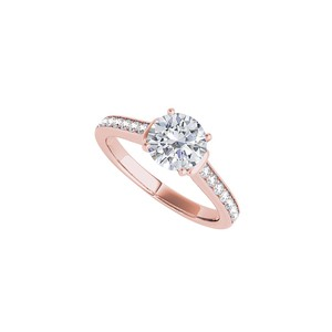DesignByVeronica Hold Her with CZ Elegant Style Engagement Ring in Gold