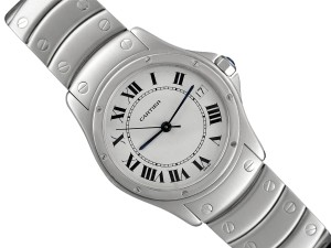 Cartier Cartier Santos Ronde Mens Watch, Automatic - Stainless Steel