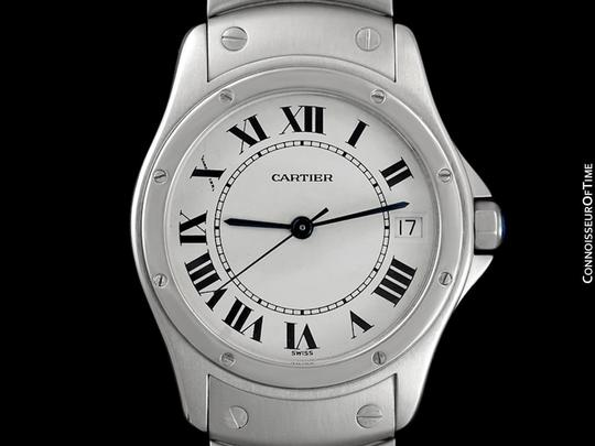 Cartier Cartier Santos Ronde Mens Watch, Automatic - Stainless Steel Image 1