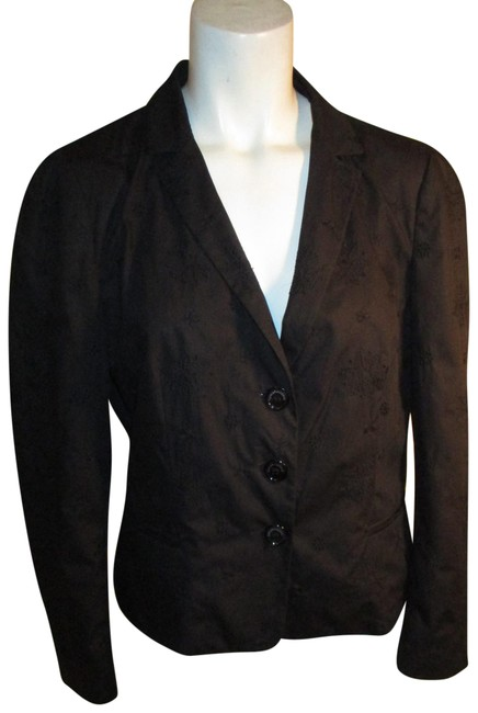 Moschino Black Cheap and Chic Eyelet Blazer Size 12 (L) Moschino Black Cheap and Chic Eyelet Blazer Size 12 (L) Image 1