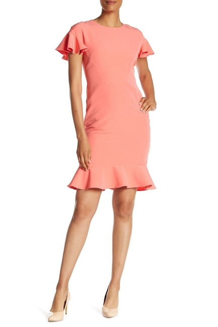 Preload https://img-static.tradesy.com/item/24188670/maggy-london-sun-salmon-women-s-ruffle-sleeve-crepe-short-cocktail-dress-size-8-m-0-0-650-650.jpg