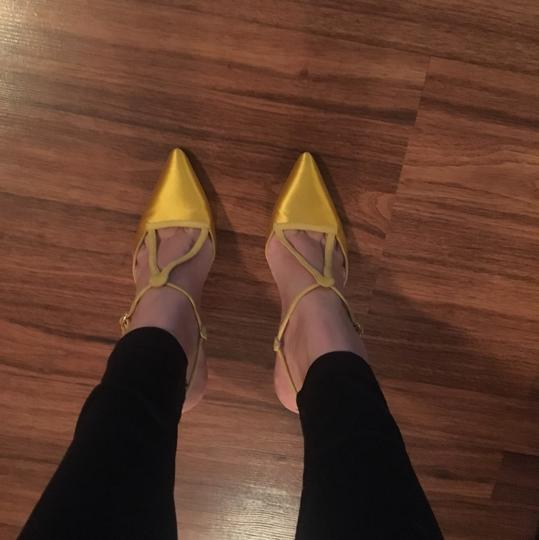Manolo Blahnik Yellow Pumps Image 1