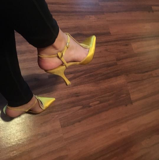 Manolo Blahnik Yellow Pumps Image 2