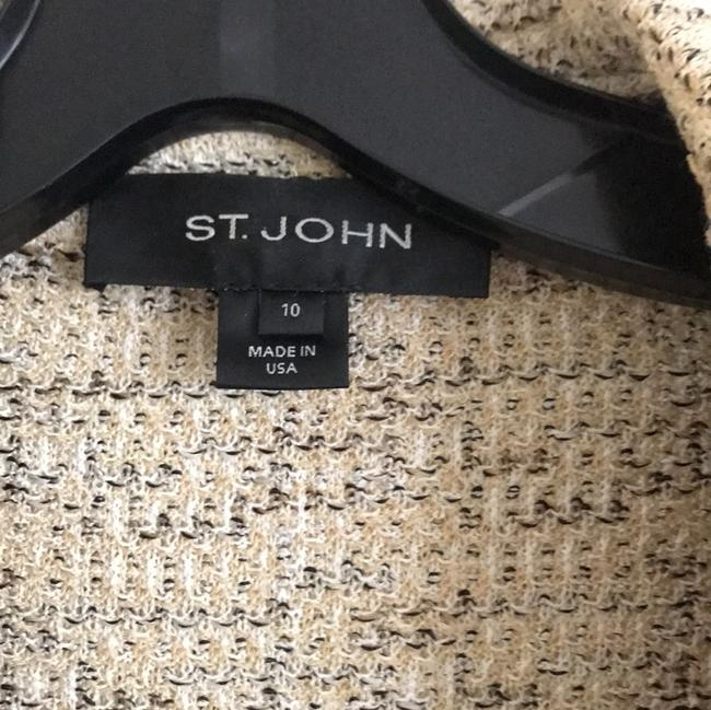 St. John multi color Black and Tan knits Blazer Image 3