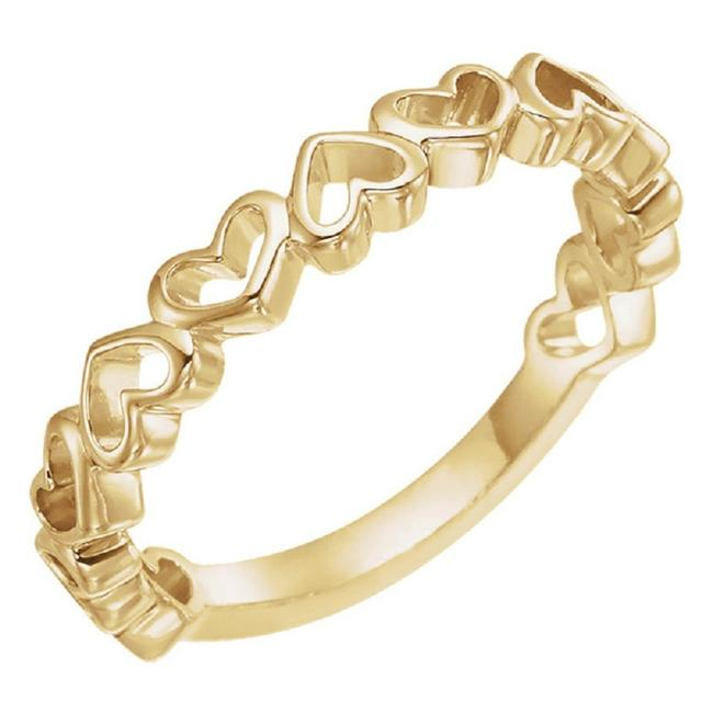 Apples of Gold 14k Yellow Open Heart Ring Apples of Gold 14k Yellow Open Heart Ring Image 1