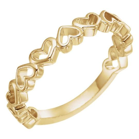 Apples of Gold 14K YELLOW GOLD OPEN HEART RING Image 2