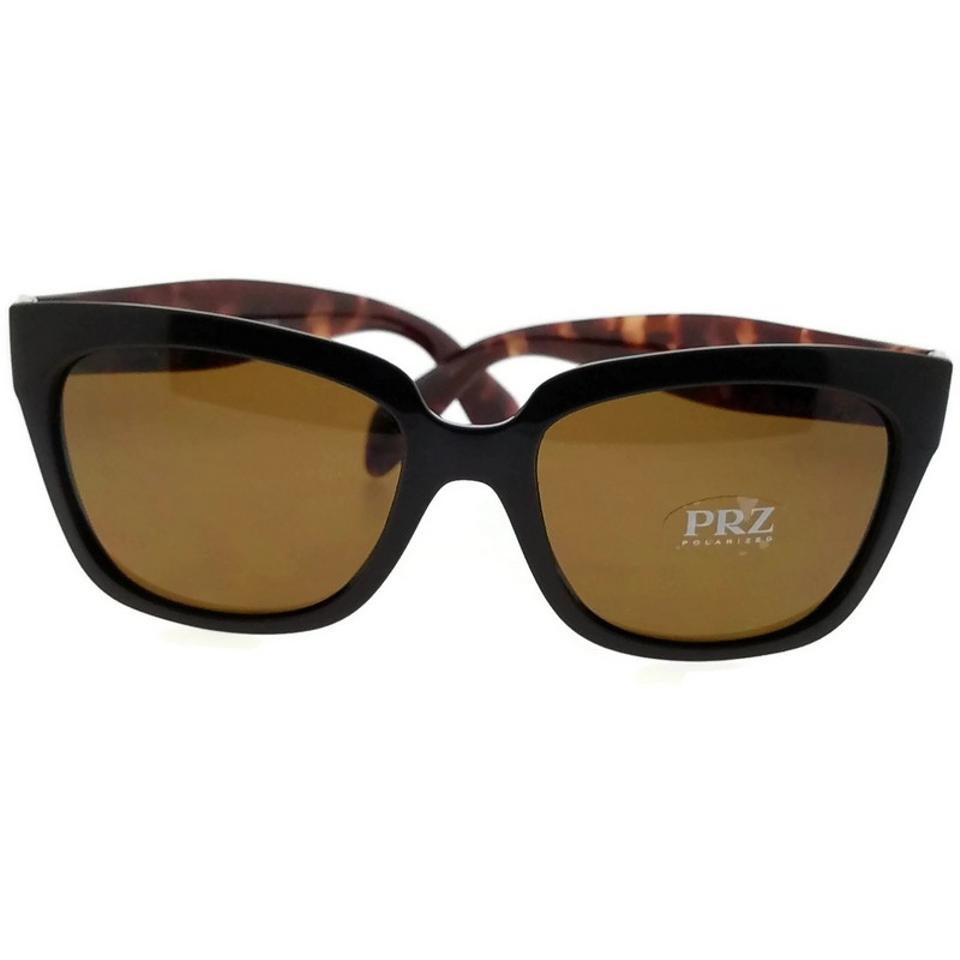 19f59e24a90 Prada PR07PS-DHO5Y1 Square Women Brown Frame Brown Lens Polarized Sunglasses  Image 0 ...