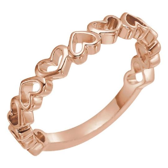 Apples of Gold 14K ROSE GOLD OPEN HEART BAND Image 2