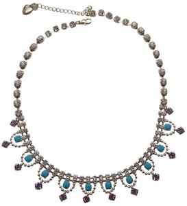 Betsey Johnson Betsey Johnson New Turquoise & Lavender Necklace