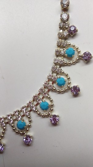 Betsey Johnson Betsey Johnson New Turquoise & Lavender Necklace Image 1