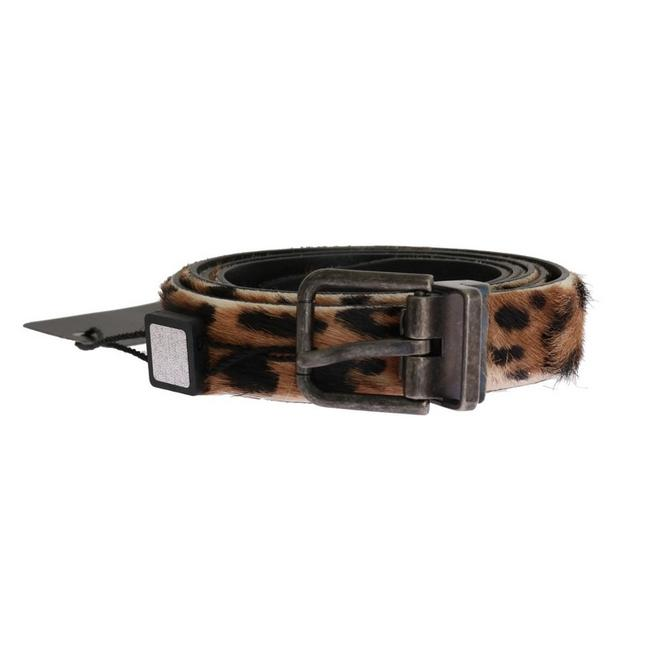 Dolce&Gabbana Brown D11009-6 Leopard Goat Hair Cayman Leather Belt Groomsman Gift Dolce&Gabbana Brown D11009-6 Leopard Goat Hair Cayman Leather Belt Groomsman Gift Image 1