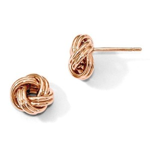 Apples of Gold 14K ROSE GOLD LOVE KNOT EARRINGS
