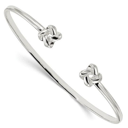 Apples of Gold LOVE KNOT CUFF BRACELET IN SILVER Image 2