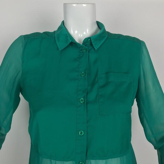 Free People Button Down Shirt Green Image 1