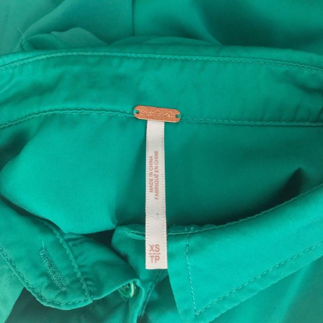 Free People Button Down Shirt Green Image 4