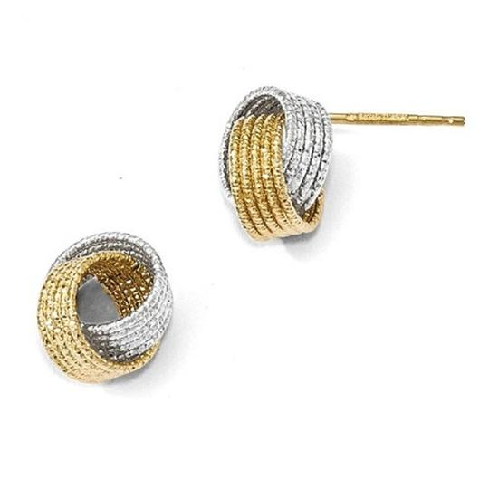 Preload https://img-static.tradesy.com/item/24189163/apples-of-gold-14k-two-tone-textured-love-knot-earrings-0-0-540-540.jpg