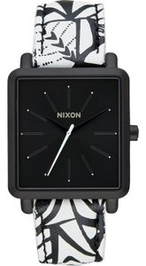 Nixon A472-2218 Women's Multicolor Leather Band With Black Analog Dial Watch