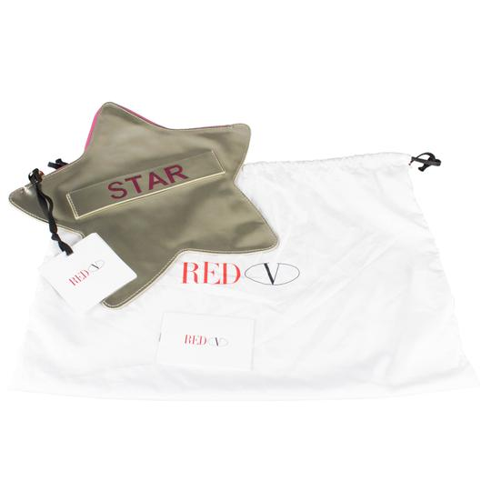 RED Valentino Patent Leather Star Made In Italy Gold Clutch