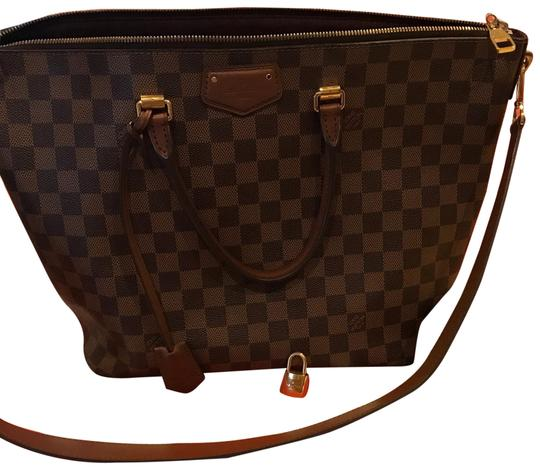 Preload https://img-static.tradesy.com/item/24189249/louis-vuitton-belmont-brown-damier-and-leather-satchel-0-1-540-540.jpg