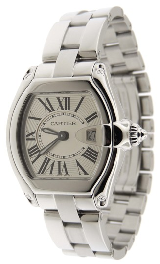 Preload https://img-static.tradesy.com/item/24189250/cartier-silver-mint-ladies-roadster-2675-ss-30x36mm-date-boxpapers-watch-0-0-540-540.jpg