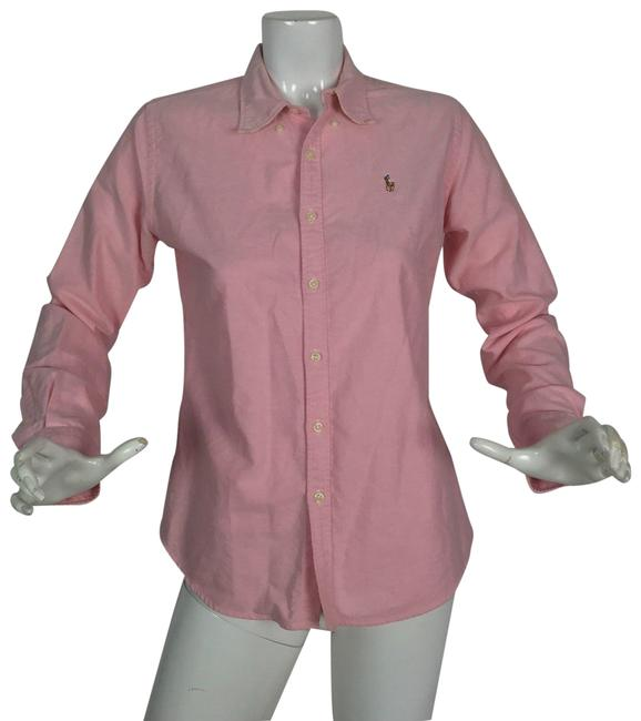 Preload https://img-static.tradesy.com/item/24189271/ralph-lauren-pink-blouse-shirt-cotton-oxford-women-button-down-top-size-8-m-0-1-650-650.jpg