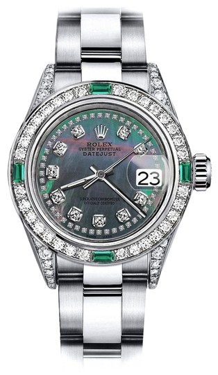 Preload https://img-static.tradesy.com/item/24189278/rolex-stainless-steel-black-pearl-string-31mm-datejust-diamond-lugs-and-emerald-watch-0-1-540-540.jpg