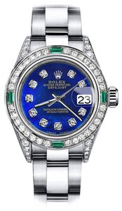Rolex Rolex Blue Treated 31mm Datejust Diamond lugs & Emerald