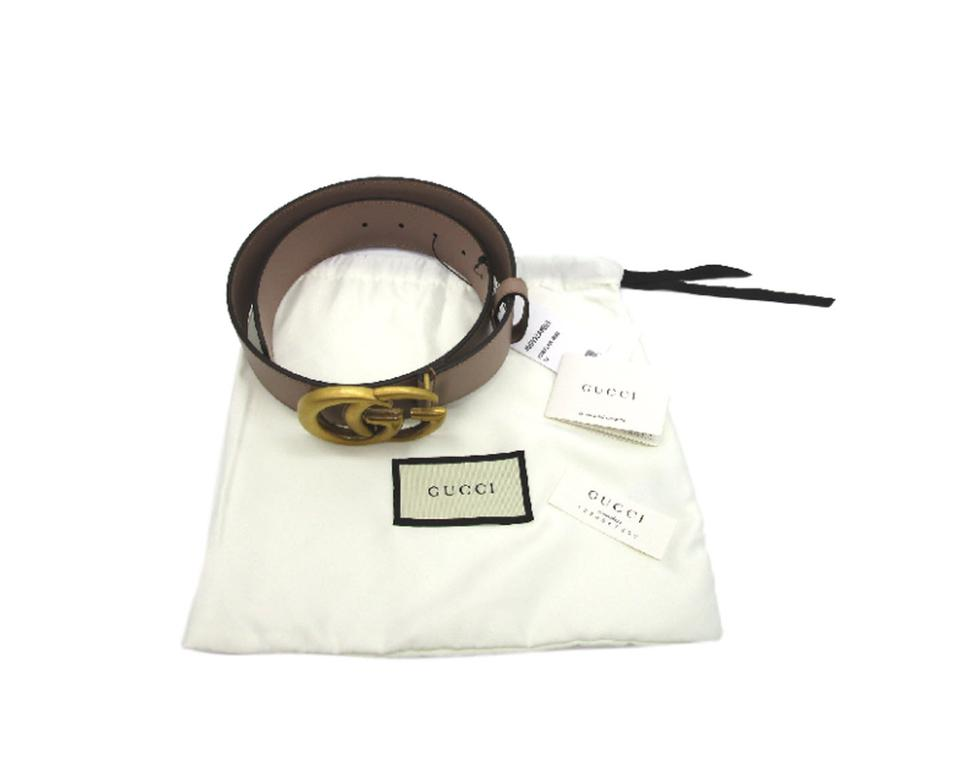 ab17522d5b8 Gucci Pink Taupe Marmont Porcelain Rose Gg Belt - Tradesy