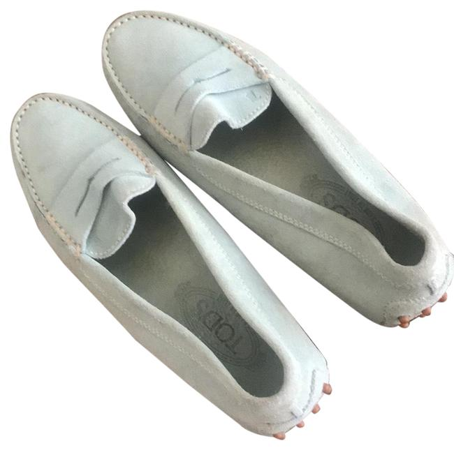 Item - Light Blue Gommino Suede Loafers Flats Size EU 40.5 (Approx. US 10.5) Regular (M, B)