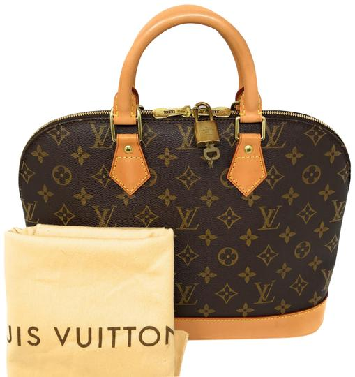 Preload https://img-static.tradesy.com/item/24189395/louis-vuitton-alma-monogram-pm-brown-canvas-leather-satchel-0-1-540-540.jpg