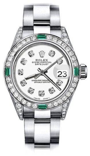 Preload https://img-static.tradesy.com/item/24189396/rolex-stainless-steel-ivory-31mm-datejust-diamond-lugs-and-emerald-watch-0-1-540-540.jpg